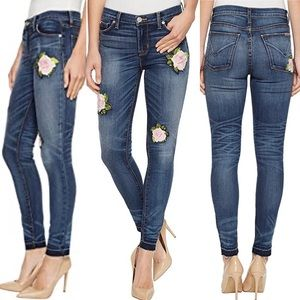 Hudson Nico Super Skinny Embroidered Jeans